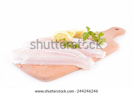 raw fish fillet - stock photo
