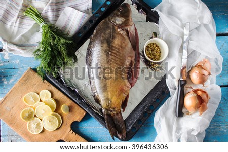 raw fish for baking