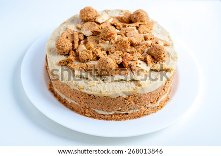 raw healthy dessert - stock photo