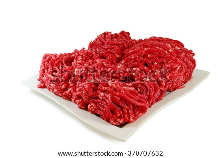 Raw meat. Fresh Minced Beef in a Bowl