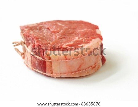 Raw meat-isolated raw beef against white background