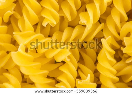 Raw pasta yellow