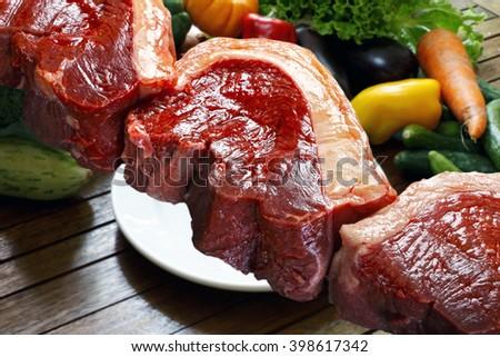 Raw picanha - stock photo