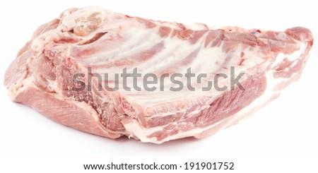raw pork ribs - stock photo