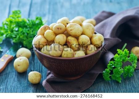 raw potato - stock photo