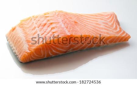 Raw salmon fillet - stock photo