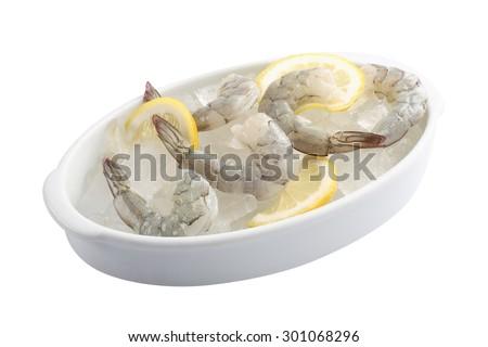 raw shrimp - stock photo