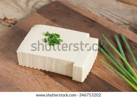 Raw Soy Tofu. - stock photo