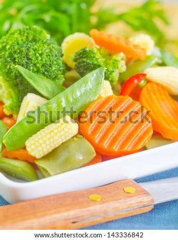 raw vegetables - stock photo