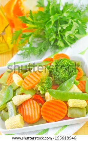 raw vegetables, mix vegetables - stock photo