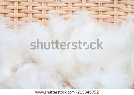 raw wool - stock photo