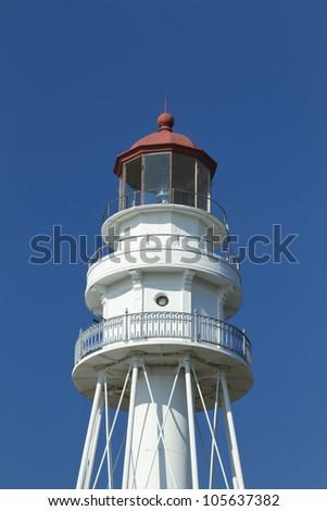 Rawley Point Lighthouse Lantern - stock photo