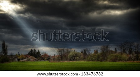 Ray of light - stock photo