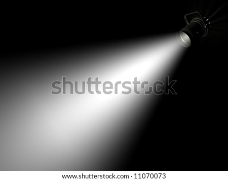Ray of light on a dark background