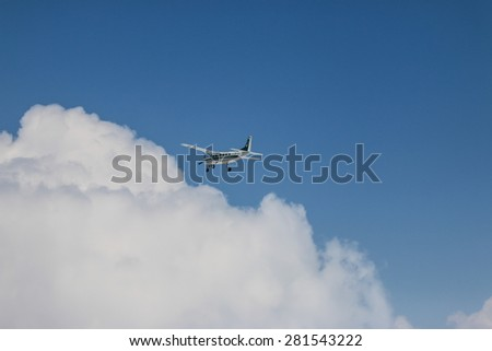RAYONG , THAILAND- MAR 28 2015: Cessna 208 Caravan no.1918 of KASET , Bureau of Royal Rainmaking and Agricultural Aviation. U-TAPAO Airport, Rayong