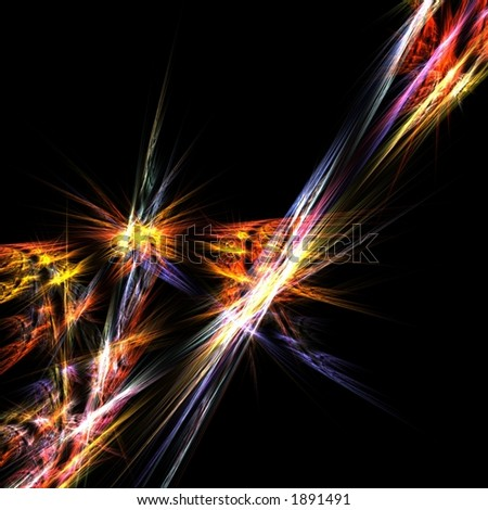 Rays of colorful light abstract - stock photo