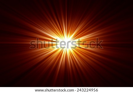 Rays of light from central point - stock photo
