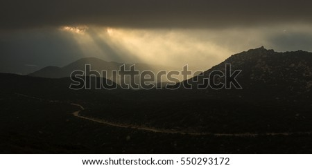 Rays of Light in the Santa Rosa Mountains
