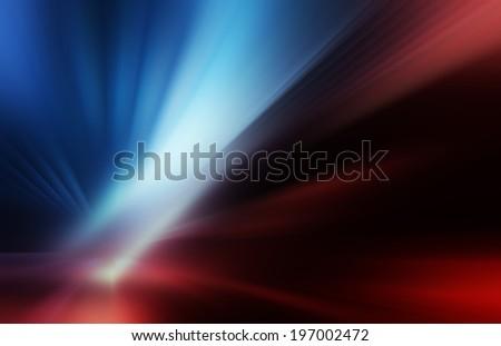 rays on the dark - stock photo