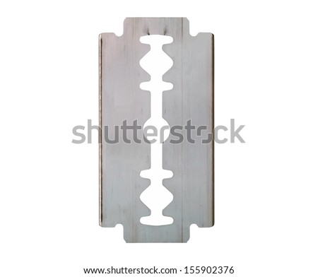 razor blade isolated om white background        - stock photo