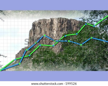 Reach your peak competition graph .Look for more matching elements in my gallery . - stock photo