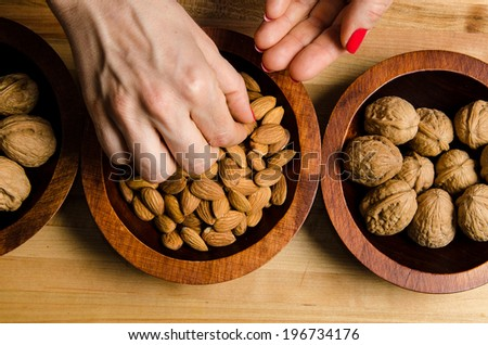 Reaching for a healthy snack - stock photo