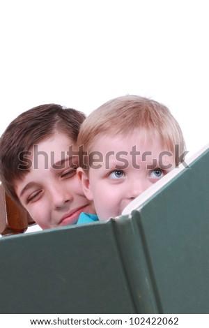 Reading a book - stock photo
