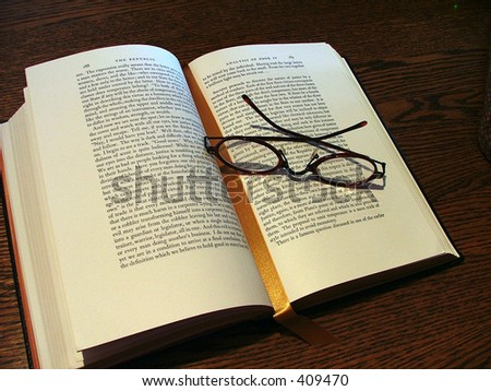 Reading glasses & book