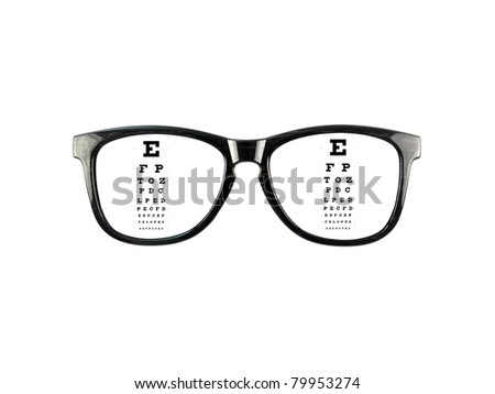 Reading glasses isolated against a white background - stock photo