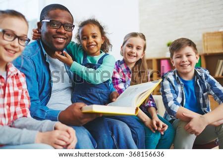 Reading lesson - stock photo