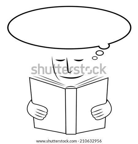 Reading Studying Showing Think About It And School Reflect - stock photo