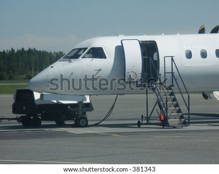 Ready for boarding - stock photo