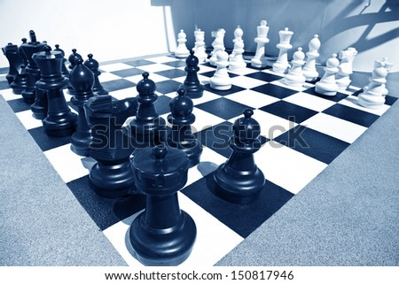 Ready for chess battle - stock photo