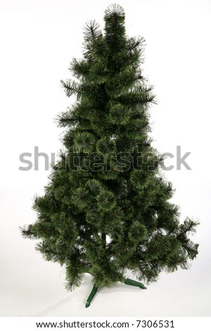 Ready for decoration christmas tree. You can find half decorated and finished version in my portfolio as well. - stock photo