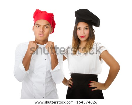 ready for master chef - stock photo