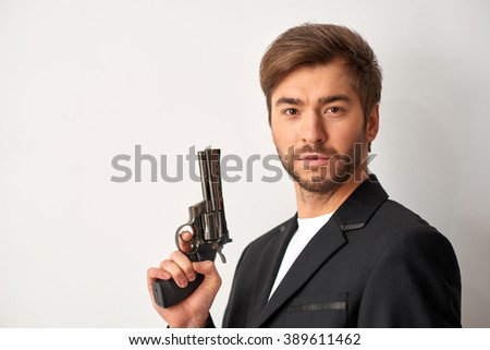 Ready for shocking acts. - stock photo