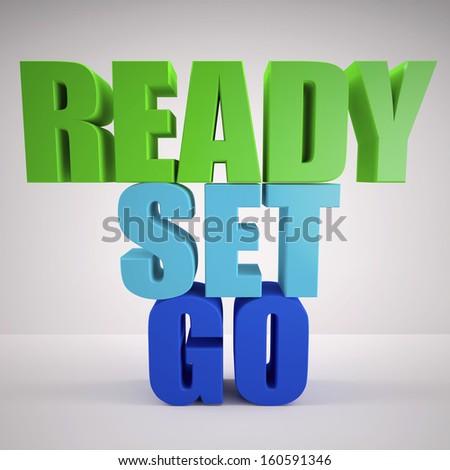 Ready, set, go - stock photo
