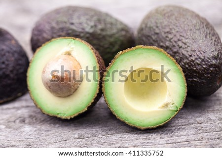 Ready to eat avocado slices - stock photo