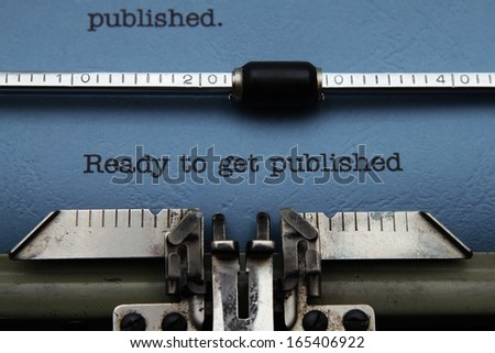 Ready to get published - stock photo