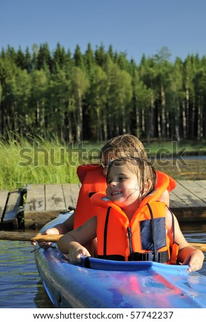 Ready to paddle - stock photo