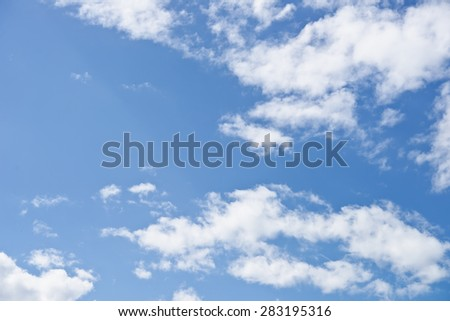 real blue sky with clouds