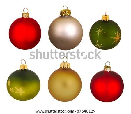 Real Christmas Balls set. - stock photo