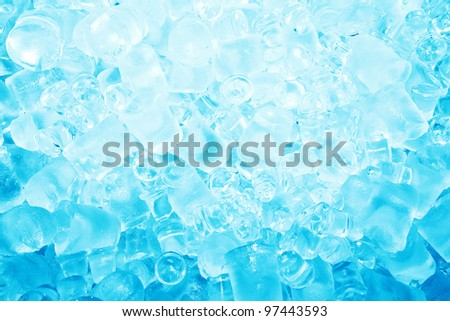 Real cool ice cube frozen background - stock photo