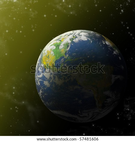 Grass Planet Space Elements This Image Stock Photo ...