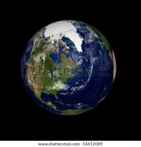 Real Earth Planet in space - stock photo