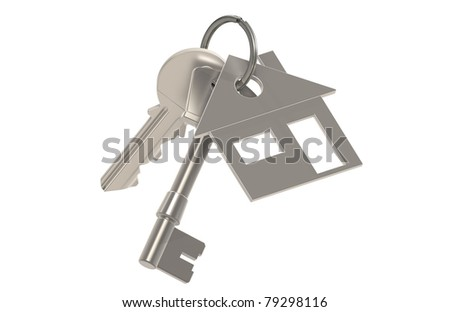 Real Estate Agent. Keys with a House Key Ring. Real Estate Agent - stock photo
