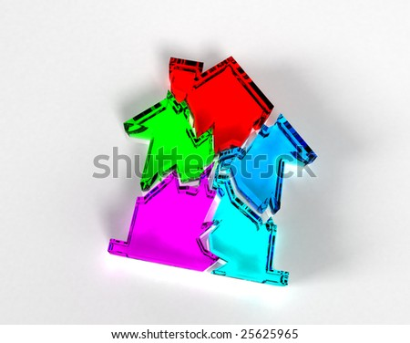 Real Estate collapse (Glass) - stock photo