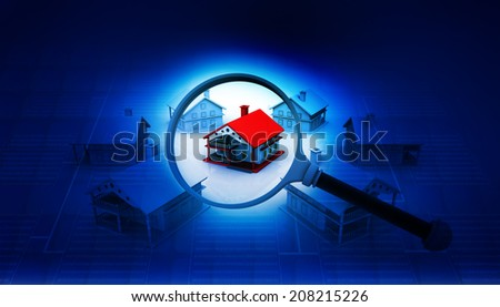Real estate concept , house search 	 - stock photo