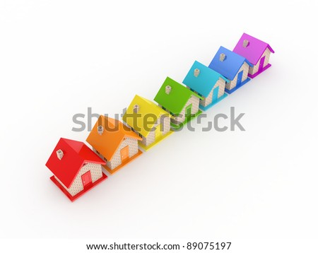 Real estate concept.Isolated on white background.3d rendered. - stock photo