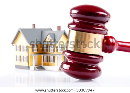 Real estate concept on isolated white background - stock photo